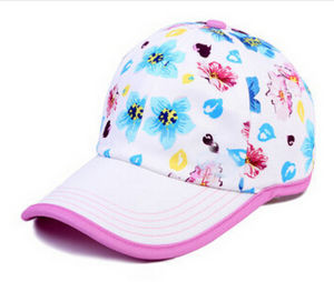 Leisure Cotton Girl′s Children Sports Baseball Caps with Velcro Backing pictures & photos