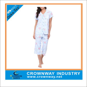 Sexy Knitted Interlock Pyjamas for Adult Women pictures & photos