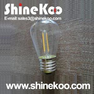 Glass S45 2W LED Filament Lamp (SUN-2WS45) pictures & photos