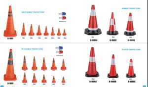 Flexible Reflective Road Traffic Cone pictures & photos