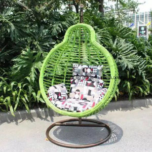 Promotional Patio Outdoor Wicker Swing Chair with Cushion pictures & photos