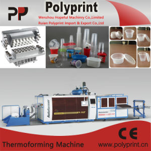 Disposable Plastic Cup Making Machine with High Capacity (PPTF-70T) pictures & photos