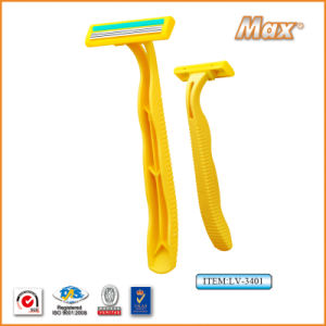 New Triple Stainless Steel Blade Disposable Shaving Razor (LV-3401) pictures & photos
