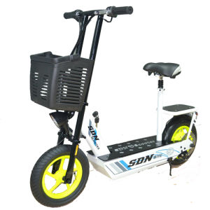 36V Electric Scooter with Foladed Handle and Rear Seat pictures & photos