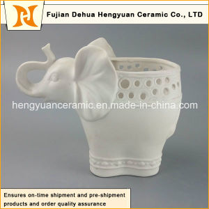 New Products Ceramic Elephant Reactive Glaze Vase (Garden Decoration) pictures & photos
