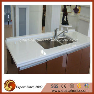 Pure White Crystallized Glass Countertop pictures & photos