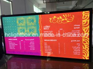 LED Menu Board Advertising Menu Board Light Box Menu Display