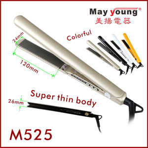 M525 Super Thin Design Hair Straightener, Colorful LED Indicator Lights pictures & photos