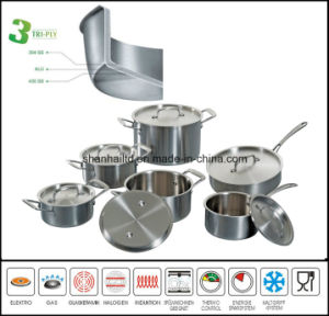 3 Ply Body All Clad Cookware Set Tri-Ply Stainless Steel Kitchenware pictures & photos