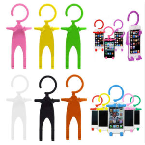 Silicone Phone Support Creative Mr. Shape Silicone Phone Stand pictures & photos