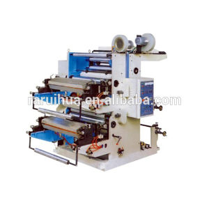 Double Color Plastic Flexographic Printing Machine pictures & photos