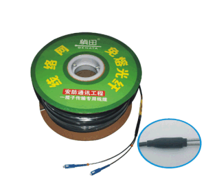 CCTV Fibre Optic Cables Single Mode 2 Core with Connector pictures & photos