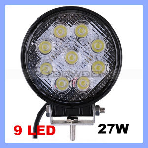 "4"" Round LED Work Light Waterproof 27W off Road 12-24V LED Trailer Lights China pictures & photos"