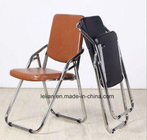Public School PU Metal Folding News Chair pictures & photos