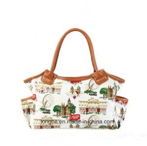 Wholesale Custom Fashionable Waterproof PVC Print Tote Handbag pictures & photos