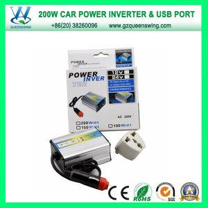 12VDC 220VAC 200W USB Mini Car Power Inverter (QW-200MUSB) pictures & photos