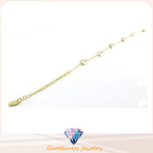 Wholesale Cheap Fashion Gold Plated Jewelry with Crystal Stainless Steel Bracrlet Bt6642 pictures & photos