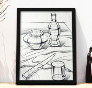 Big Size Wooden Frames for Pencil Sketch Drawing pictures & photos