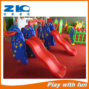 Indoor Playground Plastic Toys Slide Plastic Swing for Children on Discount (ZK011-2) pictures & photos