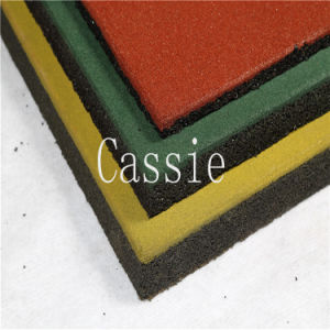 Wearing-Resistant Rubber Tiles/Anti-Slip Rubber Flooring/Gym Rubber Tile pictures & photos