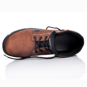 New Design Metal Free Safety Nubuck Leather Shoes with Composite Toe Cap M-8356 Brown pictures & photos