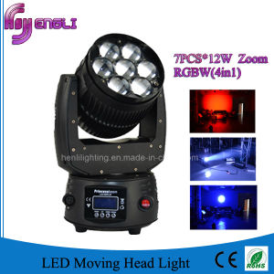 7PCS*12W 4in1 LED Moving Head Stage Light (HL-009BM) pictures & photos