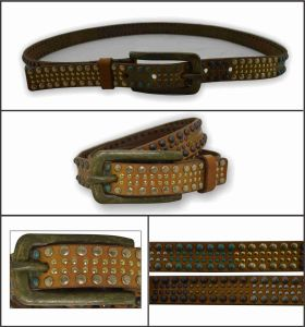 Genuine Leather Belt with Fashion Studs pictures & photos