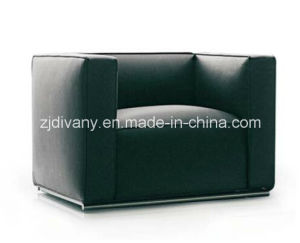 Black Leather Single Sofa Fabric Single Sofachair (D-62A) pictures & photos