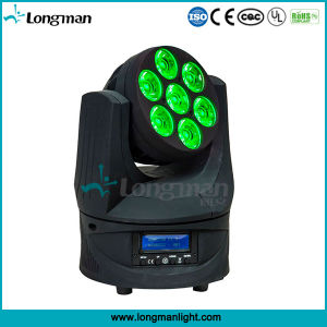 RGBW 4in1 7*15W Moving Head Endless Rotating Color LED Light for Concert pictures & photos