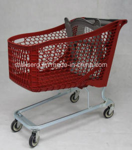 Plastic Shopping Cart with Child Seat pictures & photos