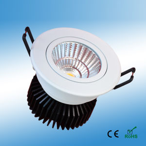 7W Dimmable COB LED Down Light with 3 Years Warranty