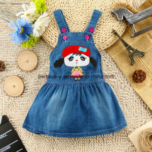 Fashion Printing Baby Girls Lovely Denim Jeans Dress Kids Dress pictures & photos