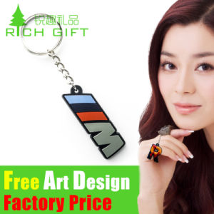OEM Promotion House Shaped Metal PVC Custom House Keychain pictures & photos