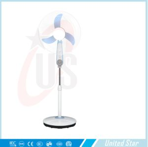 16 Inch 12V DC Stand Fan with Battery and LED Light pictures & photos