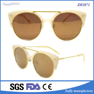 Double-Bridge Acetate Sunglasses with UV400 Polarized Lens Brown&Black Lens pictures & photos