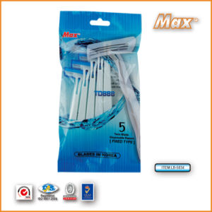 New Twin Stainless Steel Blade Disposable Shaving Razor (LB-5043) pictures & photos