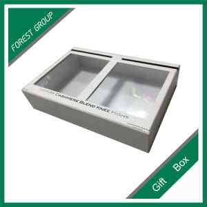 Ivory Paper Box with Transparent Window for Wholesale pictures & photos