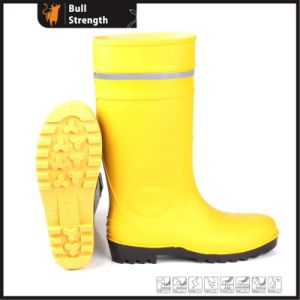 Safety PVC Rain Boot with Reflective Stripe (SN5128) pictures & photos