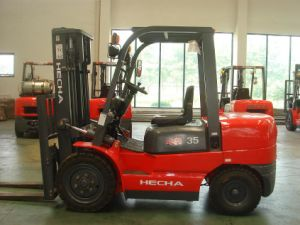 Hecha Forklift Diesel Forklift 3.5 Ton pictures & photos