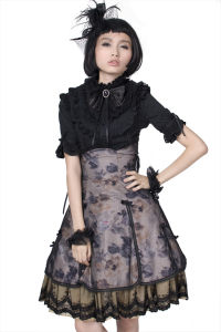 Wholesale Lolita Cute Short Sleeve Black Dress Shirt (LY-008) pictures & photos