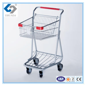 Hot Sale Single Basket Shopping Trolleys with Good Design pictures & photos