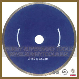 No Chipping Continuous Rim Diamond Saw Blade for Cutting Tiles/Ceramic/Porcelain pictures & photos