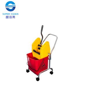 Mini 30L Down-Press Single Mop Wringer Trolley Bucket (B-044) pictures & photos