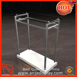 Stainless Steel Clothing Display Stand with Wooden Base pictures & photos