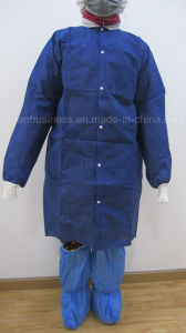 SMS Disposable Lab Coat with Knitted Cuff and Collar (LY-coat) pictures & photos