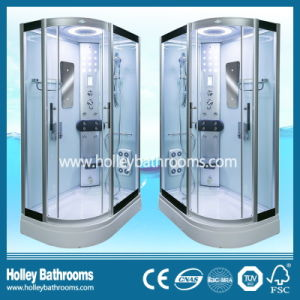 New Design Computer Display Shower Cabin with Glass Shelf and Seat (SR119L)