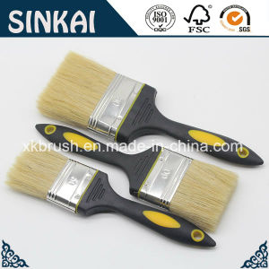 Rubber Bristle Painting Brush with White Bristle pictures & photos