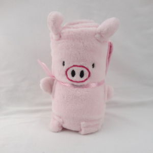 Baby Blanket- Coral Fleece- Animal Shape -Pig pictures & photos
