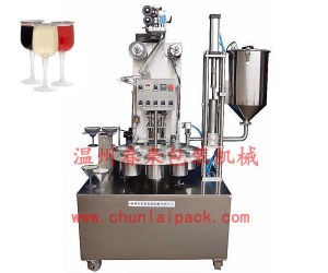 Rotary Yoghurt Cup Filling and Sealing Machine pictures & photos