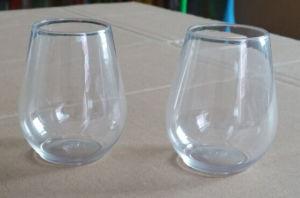 Premium Unbreakable Plastic Stemless Wine Glasses 4oz pictures & photos